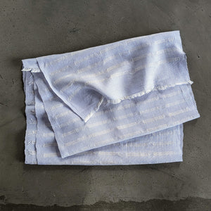 Scarf Silk Stripe Pale Blue White