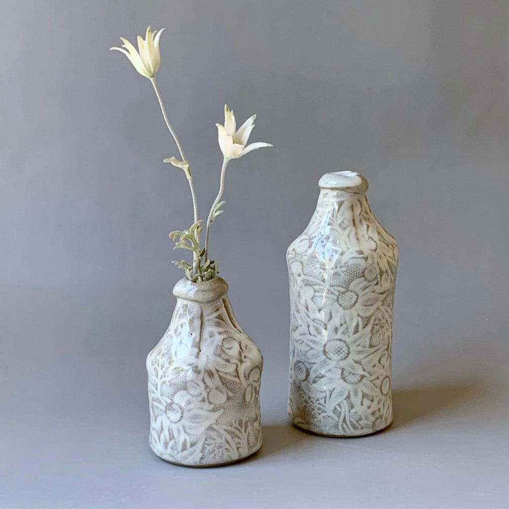 Ceramic Vase Flannel Flower Bottle Small