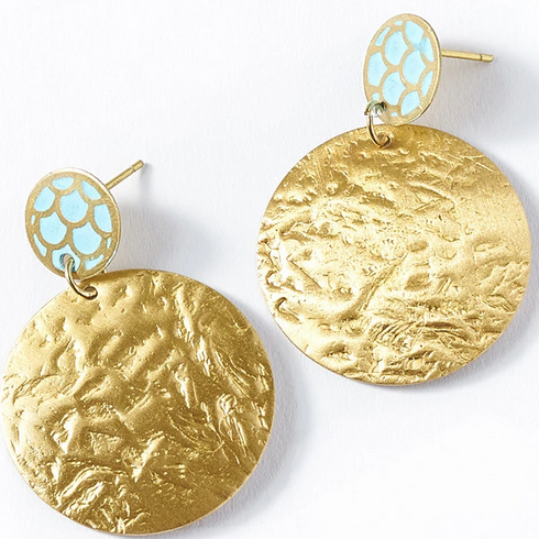 DHAVALA COIN EARRINGS