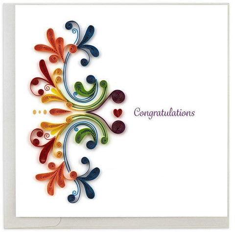 RAINBOW SWIRL CONGRATULATIONS CARD