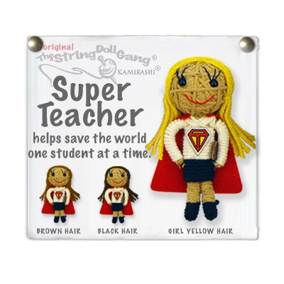 SUPER TEACHER GIRL STRING DOLL