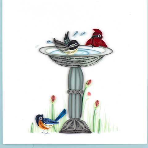 BIRD BATH CARD