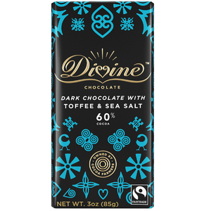 DIVINE TOFFEE 60% DARK CHOCOLATE