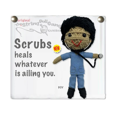 SCRUBS BOY STRING DOLL