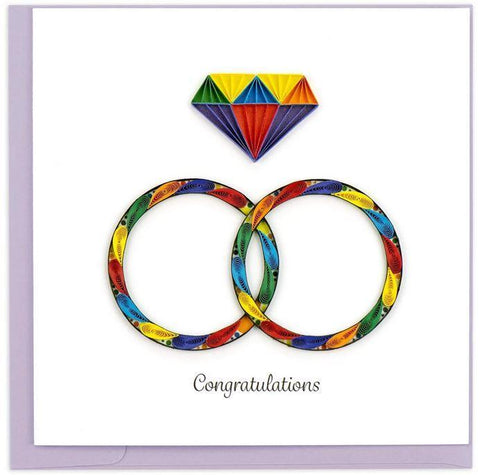 RAINBOW RINGS CARD