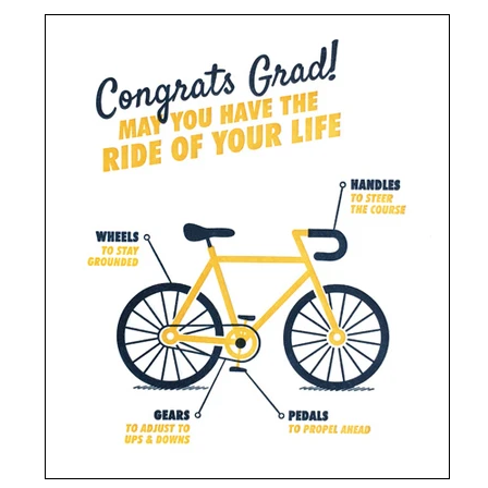 GRADUATION BICYCLE CARD