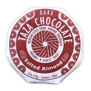 SALTED ALMOND MEXICAN CHOCOLATE DISCS