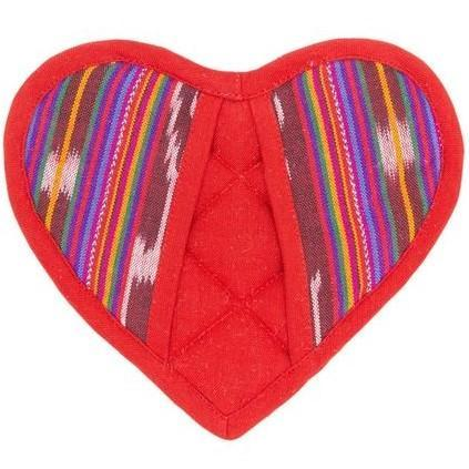 RED HEART POTHOLDER