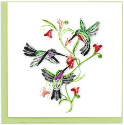 HUMMINGBIRD TRIO CARD