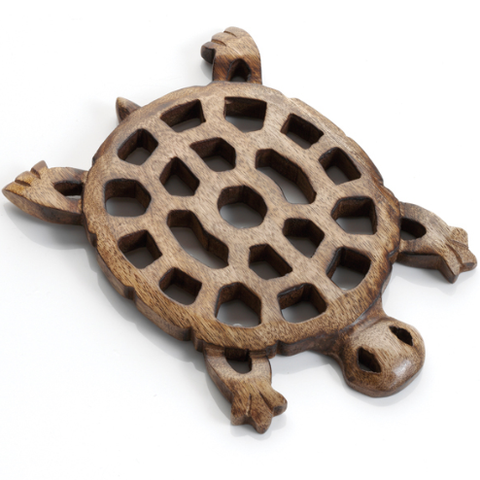 MANGO WOOD TURTLE TRIVET