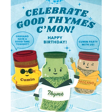 THYME BDAY CARD