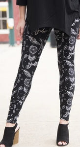 Boho Yoga Waist Band Leggings