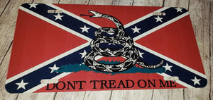 Don't tread on me Flag License Plate