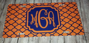 Monogram License Plate DB
