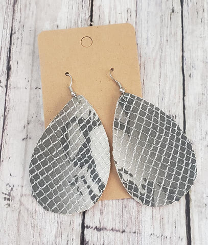 Snake Skin Earrings  Faux Leather