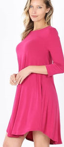 Pocket Dress Magenta