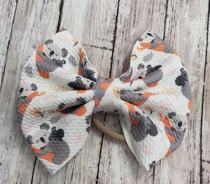 Koala Bear Print Bullet Fabric Bow