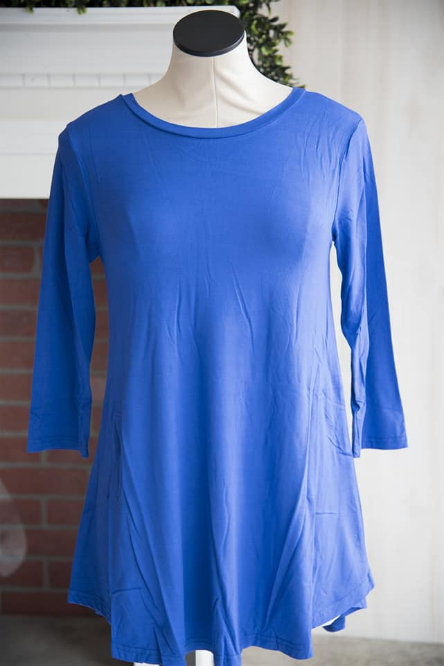 Royal Blue 3/4th Sleeve soft tee