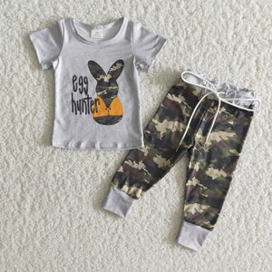 Easter Bunny Boy Kids boutique Outfit