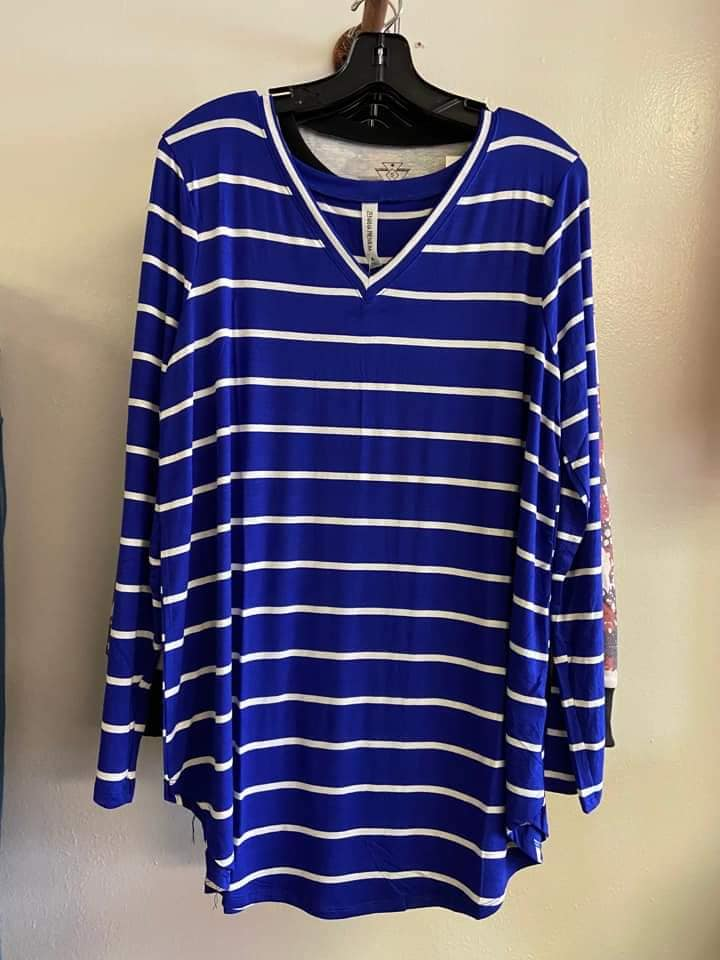 Royal Blue & Stripe Shirt