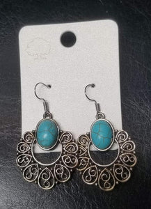 Paisley Tear Drop Earrings