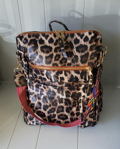 Leopard Guitar Strap Back Pack