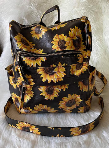 Sunflower Guitar Strap Back Pack