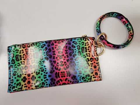 Rainbow Leopard Bangle Wristlet