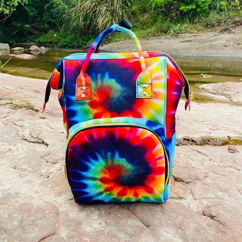 Tye Dye Print Diaper Bag