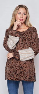 Leopard Sweat Shirts Long Sleeve