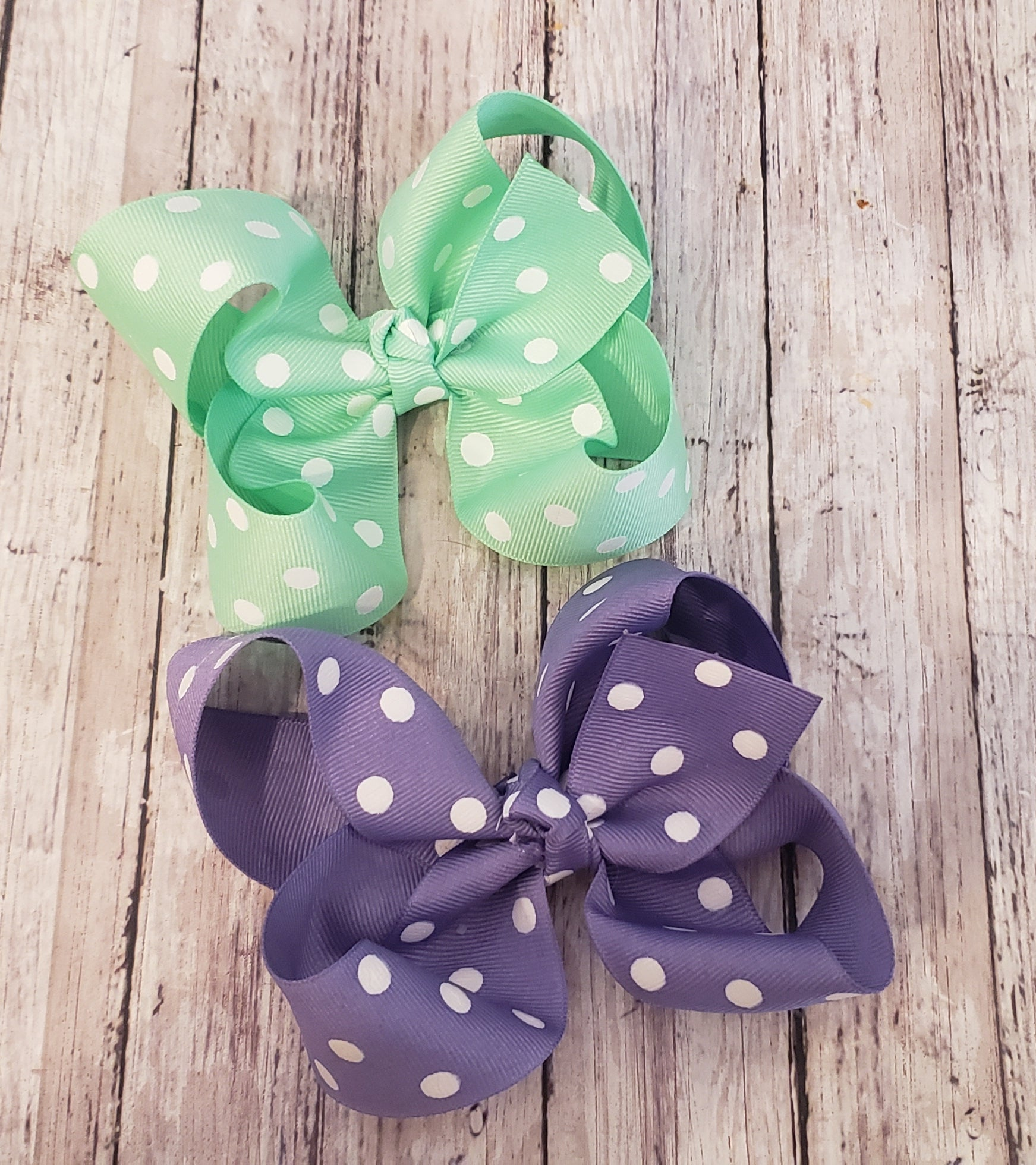 Polka dot ribbon bows