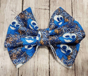 Cookie Monster Bullet Fabric Bow