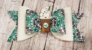 Starbucks Clay doll faux leather bow