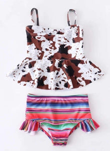 Cow Print Serape Swim Suit