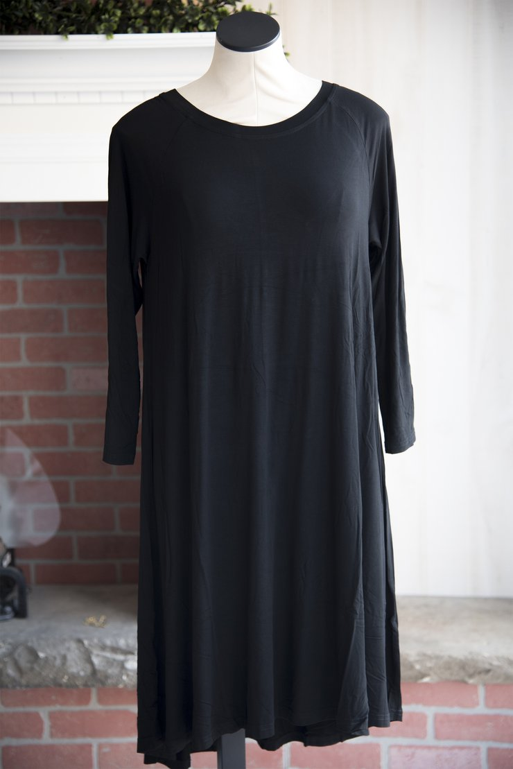Black Raglan Dress