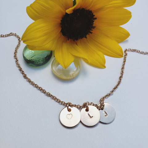 Initial charm necklace, customize it with a letter of your choice