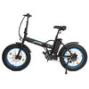 Ecotric Fat Tire Portable and Folding Electric Bike - Matt Black