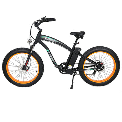 Ecotric Hammer Electric Fat Tire Beach Snow Bike - Orange