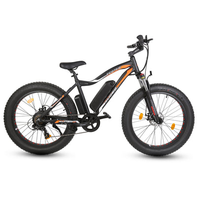 Ecotric Rocket Fat Tire Beach Snow Electric Bike - Matt Black