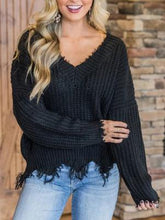 Load image into Gallery viewer, V-Neck Off-The-Shoulder Sweater
