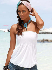 Strapless T-shirt Beach Shirt