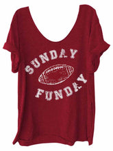 Load image into Gallery viewer, Sunday Funday Print T-Shirt