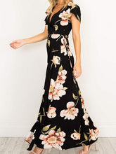Load image into Gallery viewer, V-Neck Floral Printed Maxi Dress