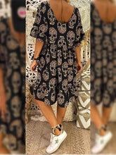 Load image into Gallery viewer, Skull Print Dress