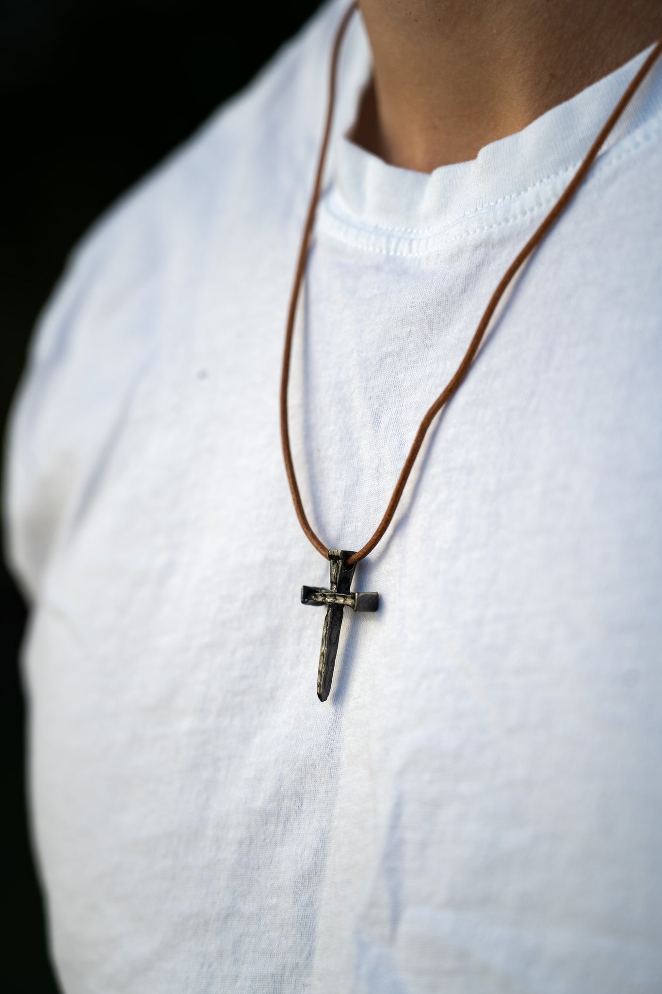 - Cross Necklace for Young Men -