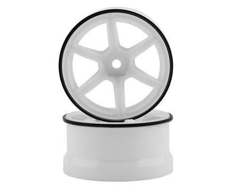Yokomo Racing Performer Hi-Traction RP Drift Wheel Offset 6mm White