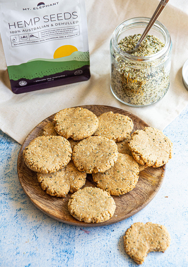 Hemp Seeds & Peanut Butter Cookies