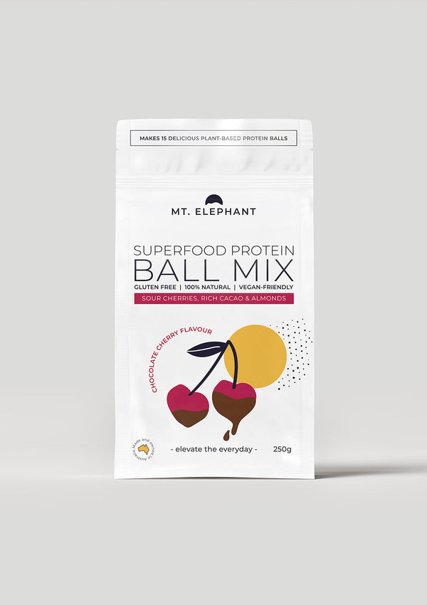 vegan protein ball austrlaian made cherry flavoured protein ball australian made mt elephant superfood protein vegan meals easy vegan recipes pre mix vegan baking