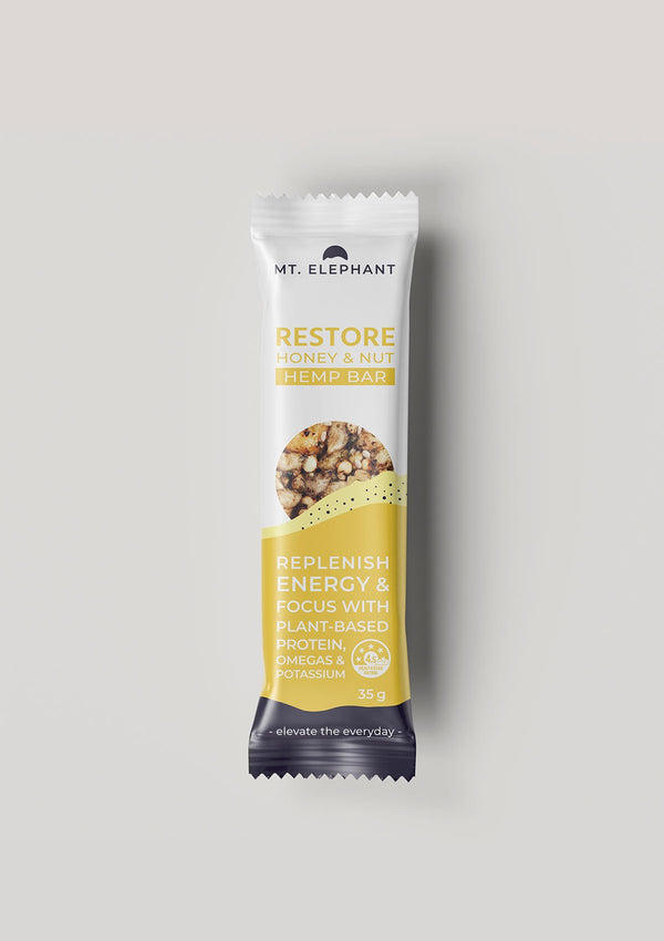single honey and nut hemp bar
