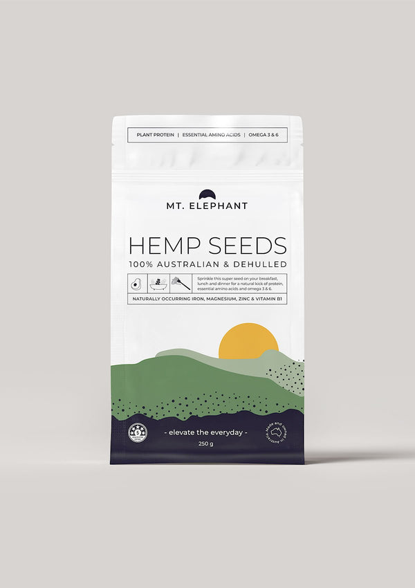 hemp seeds small pouch